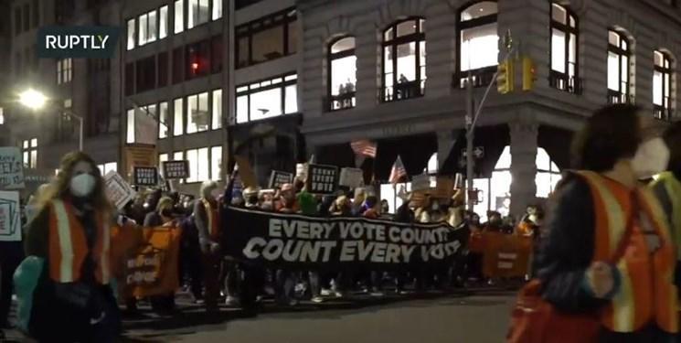 تظاهرات مردم نیویورک علیه ترامپ و آراء الکترال